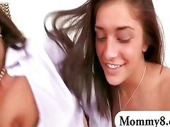 Mature stepmom analed with a teen couple
