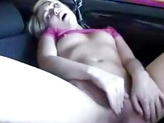 Sexy Skinny Girl Plays With Her Vagina