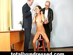 Sexy Daria and humiliating nude job interview