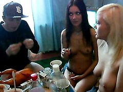Beautiful college girls get drunk and nasty 1 - Alsa, Marusia, Yolly. Part 3