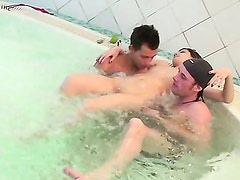 Naked girls party in a sauna 11 - Aspen, Kveta, Taya. Part 2
