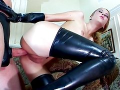 Fiona Bones taking the rubber man