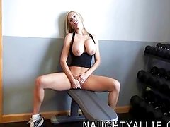 MY NEW EROTIC WORKOUT VIDEO - SOLO GYM WIFE