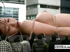 Bizarre giant naked Japan woman sex toy