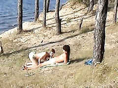 Couple in sex outdoor - Angelina