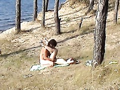 Couple in sex outdoor - Angelina. Part 2