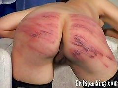 Girl Spanked and Caned for lust