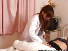 Asian nurse sensual rubbing