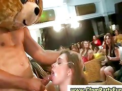 Military stripper gest bj in cfnm party