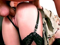 Army chick needs some cock training