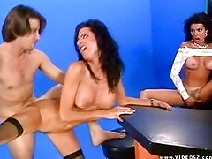 Sydnee Steele and Anna Malle work a cock
