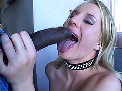 Blonde loves big black gonzo fun
