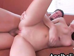 Big booty redhead gets pounded by a big