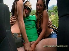 Hot hitchhiker handjob