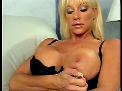 Balloon titted blonde prefers cock