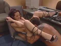 Trashy brunette licked and fucked