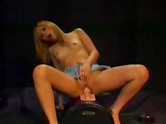Girl enjoys the pleasure of a sybian