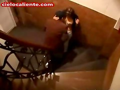 Cogiendo En Las Escaleras - Fucking Hard Security Cam