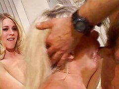 Blond moron bitches fucking old guy