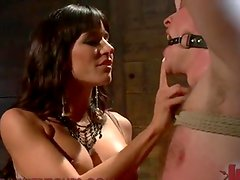 Astounding Blonde young woman Torturing A Guy's gonads in lady domination Vid