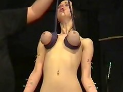 Brutal hooter hanging pain Delight of pierced slavegirl Emily