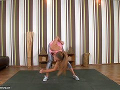 Amazing Melanie Gold gets fucked by her yoga instructor
