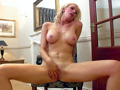 Samantha Alexandra is a beautiful blonde with long legs and
