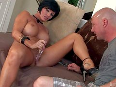 Short haired milf Shay Fox with jaw dropping balloons and