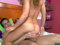 Elizabeth Bentley enjoys in getting her hands on Talon's dick