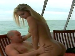 Blonde chick Ava met hot boy Josh at the sunny beach. She doesnt know him but this fact