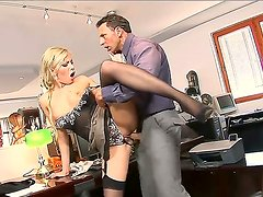 Blonde Donna Bell enjoys hardcore sex session
