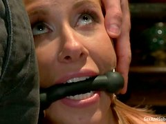 Tied Up and Tortured Blonde Cali Lakai Fucked Hard by James Deen