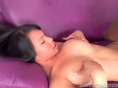 Titjob from horny Asian includes cocksucking