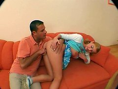 Emotional blond clown face Jolanta gets her twat drilled from behind tough