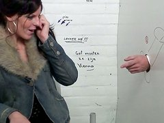 Dirty-minded harlot Chyla wins a dick in the WC and sucks it passionately