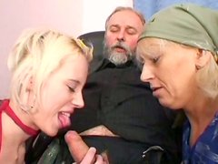 Lucky horny gaffer gets a solid blowjob provided by spoiled blondie Kristyna B