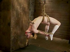 Hanging Blonde Girl Nicki Blue Gets Totally Dominated and Toyed