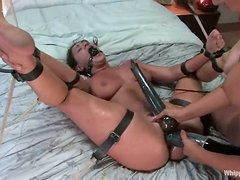Bondage - Charley Chase gets bonded and toyed in a bedroom