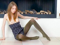 Gloria is a pale skinned skinny teen girl that poses