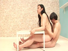 Bending over the chair spoiled chick Yuuka Tsubasa wanna be fucked from behind