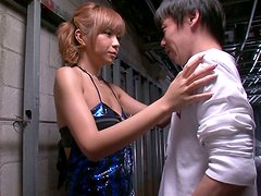 Asian sweety Sumire Matsu is on her knees begging for his cum