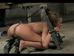 A Hot Bondage Scene With A Smoking Hot Brunette