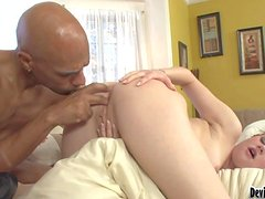 Young brunette slut Sindee Jennings with soft pale skin and