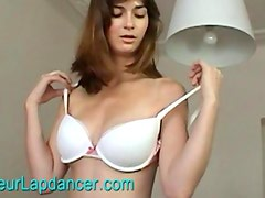 Hot czech lapdancer shows her natural breasts