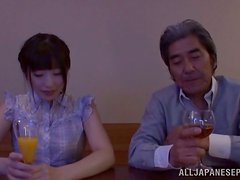 Arisa the slutty Japanese babe gets toyed by old man