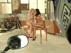 Fucking Hot Michelle Moist and Horny Shalina Divine on His Lucky Day