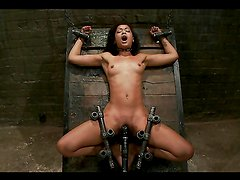 Mocha Cutie Gets Ton of Clamps on her Tight Body