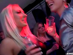 Club girls drinking and dancing for a good time