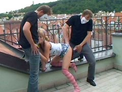 Perverted pale blondie Tereza has a voracious appetite for nonstop threesome