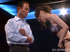 Erina Fujisaki gets fucked doggy style in her beautiful lingerie
